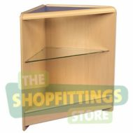 Flatpack Open Corner Glass Shelf Counter - Choice of Colour